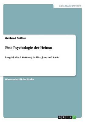 Eine Psychologie Der Heimat (Paperback)