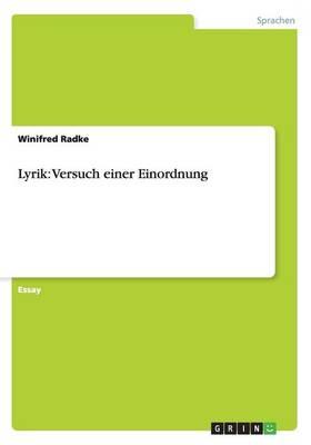 Lyrik: Versuch einer Einordnung (Paperback)