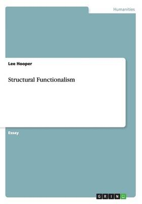 Structural Functionalism (Paperback)