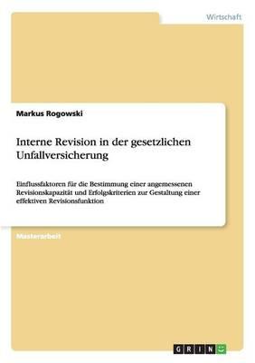 Interne Revision in Der Gesetzlichen Unfallversicherung (Paperback)