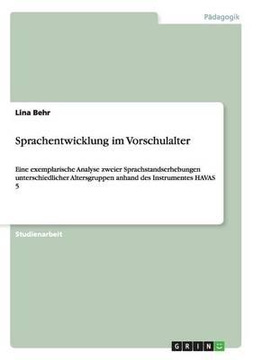 Sprachentwicklung Im Vorschulalter (Paperback)
