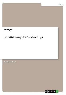 Privatisierung Des Strafvollzugs (Paperback)