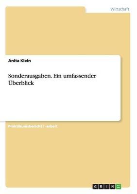 Sonderausgaben. Ein Umfassender UEBerblick (Paperback)