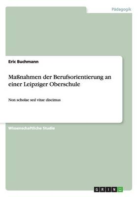 Manahmen Der Berufsorientierung an Einer Leipziger Oberschule (Paperback)