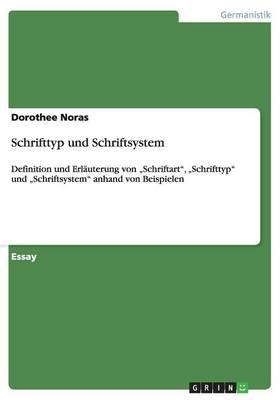 Schrifttyp Und Schriftsystem (Paperback)
