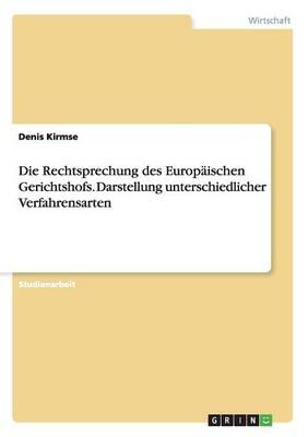 Die Rechtsprechung Des Europaischen Gerichtshofs. Darstellung Unterschiedlicher Verfahrensarten (Paperback)