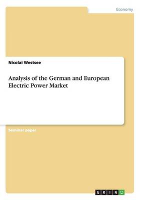 Analysis of the German and European Electric Power Market (Paperback)