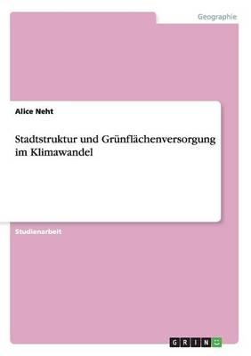 Stadtstruktur Und Grunflachenversorgung Im Klimawandel (Paperback)