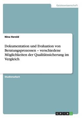 Dokumentation Und Evaluation Von Beratungsprozessen - Verschiedene Moglichkeiten Der Qualitatssicherung Im Vergleich (Paperback)
