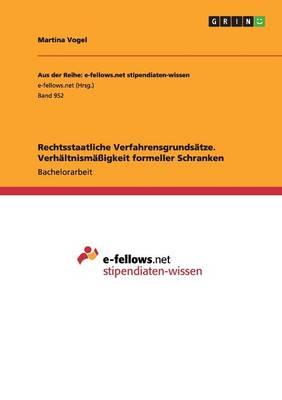 Rechtsstaatliche Verfahrensgrundsatze. Verhaltnismaigkeit Formeller Schranken (Paperback)