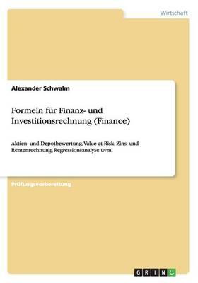 Formeln Fur Finanz- Und Investitionsrechnung (Finance) (Paperback)
