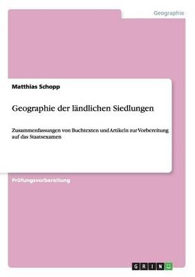 Geographie Der Landlichen Siedlungen (Paperback)