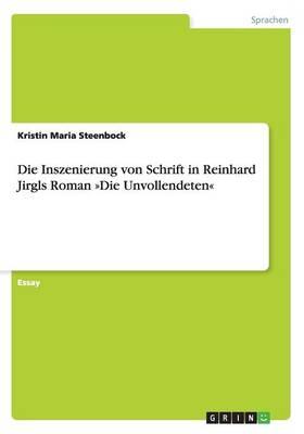 Die Inszenierung Von Schrift in Reinhard Jirgls Roman Die Unvollendeten (Paperback)