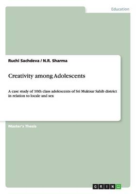 Creativity Among Adolescents (Paperback)