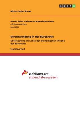 Verschwendung in Der Burokratie (Paperback)