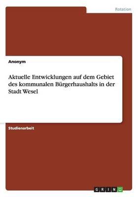 Aktuelle Entwicklungen Auf Dem Gebiet Des Kommunalen Burgerhaushalts in Der Stadt Wesel (Paperback)