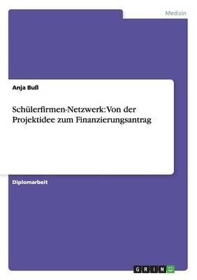 Schulerfirmen-Netzwerk: Von Der Projektidee Zum Finanzierungsantrag (Paperback)