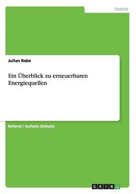 Ein Uberblick Zu Erneuerbaren Energiequellen (Paperback)
