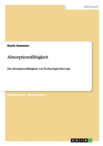Absorptionsfahigkeit (Paperback)
