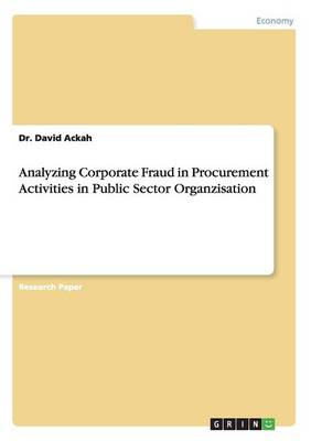 Analyzing Corporate Fraud in Procurement Activities in Public Sector Organzisation (Paperback)