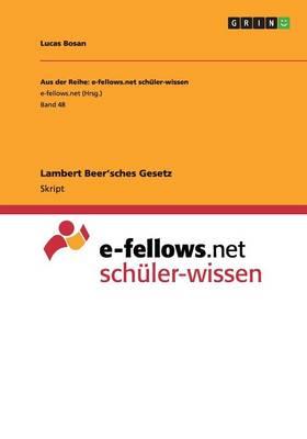 Lambert Beer'sches Gesetz (Paperback)