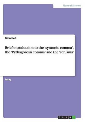 Brief Introduction to the 'Syntonic Comma', the 'Pythagorean Comma' and the 'Schisma' (Paperback)