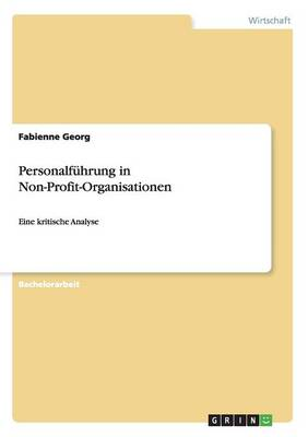 Personalfuhrung in Non-Profit-Organisationen (Paperback)