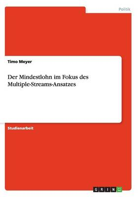 Der Mindestlohn im Fokus des Multiple-Streams-Ansatzes (Paperback)