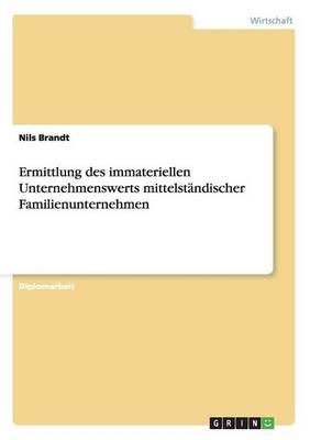 Ermittlung Des Immateriellen Unternehmenswerts Mittelstandischer Familienunternehmen (Paperback)