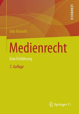 Medienrecht: Eine Einf�hrung (Paperback)