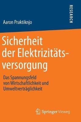Sicherheit Der Elektrizit�tsversorgung: Das Spannungsfeld Von Wirtschaftlichkeit Und Umweltvertr�glichkeit (Hardback)