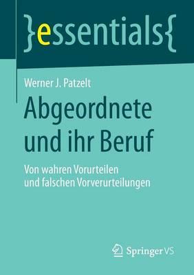 Abgeordnete Und Ihr Beruf: Von Wahren Vorurteilen Und Falschen Vorverurteilungen - Essentials (Paperback)
