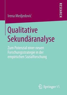 Qualitative Sekund�ranalyse: Zum Potenzial Einer Neuen Forschungsstrategie in Der Empirischen Sozialforschung (Paperback)
