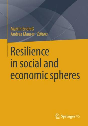 Resilience in Social and Economic Spheres 2016 (Paperback)