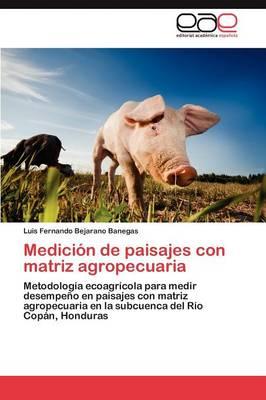 Medicion de Paisajes Con Matriz Agropecuaria (Paperback)