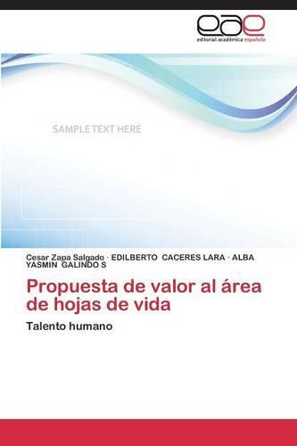 Propuesta de Valor Al Area de Hojas de Vida (Paperback)