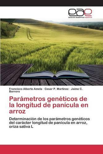 Parametros Geneticos de La Longitud de Panicula En Arroz (Paperback)