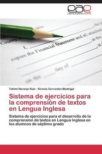 Sistema de Ejercicios Para La Comprension de Textos En Lengua Inglesa (Paperback)