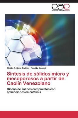 Sintesis de Solidos Micro y Mesoporosos a Partir de Caolin Venezolano (Paperback)