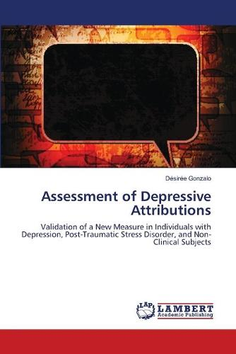 Assessment of Depressive Attributions (Paperback)