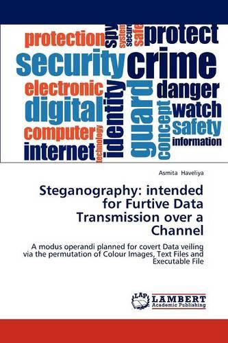 Steganography: Intended for Furtive Data Transmission Over a Channel (Paperback)