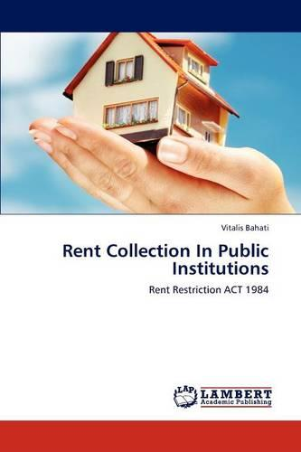 Rent Collection in Public Institutions (Paperback)