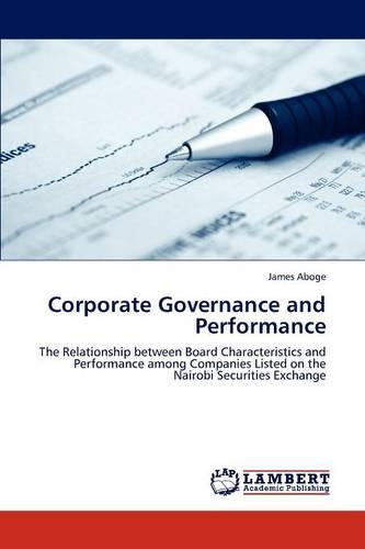 Corporate Governance and Performance (Paperback)