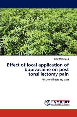 Effect of Local Application of Bupivacaine on Post Tonsillectomy Pain (Paperback)