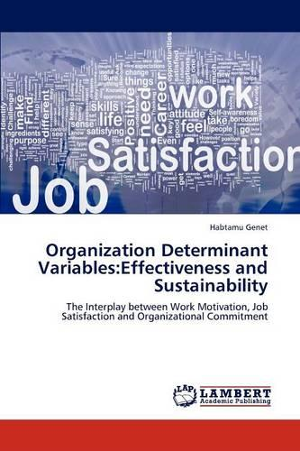 Organization Determinant Variables: Effectiveness and Sustainability (Paperback)