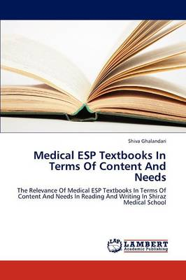 Medical ESP Textbooks in Terms of Content and Needs (Paperback)