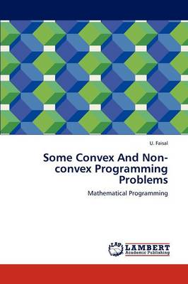 Some Convex and Non-Convex Programming Problems (Paperback)