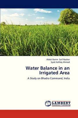 Water Balance in an Irrigated Area (Paperback)