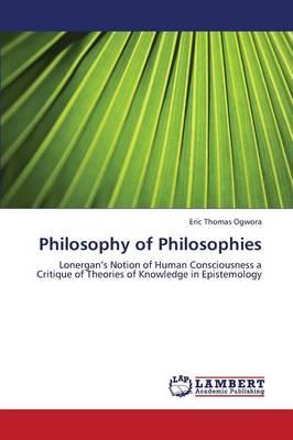 Philosophy of Philosophies (Paperback)