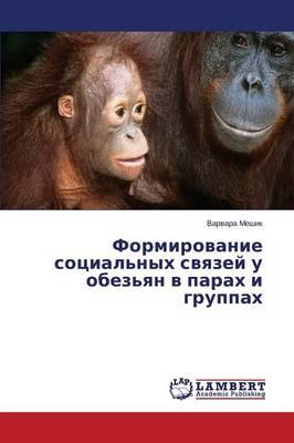 Formirovanie Sotsial'nykh Svyazey U Obez'yan V Parakh I Gruppakh (Paperback)